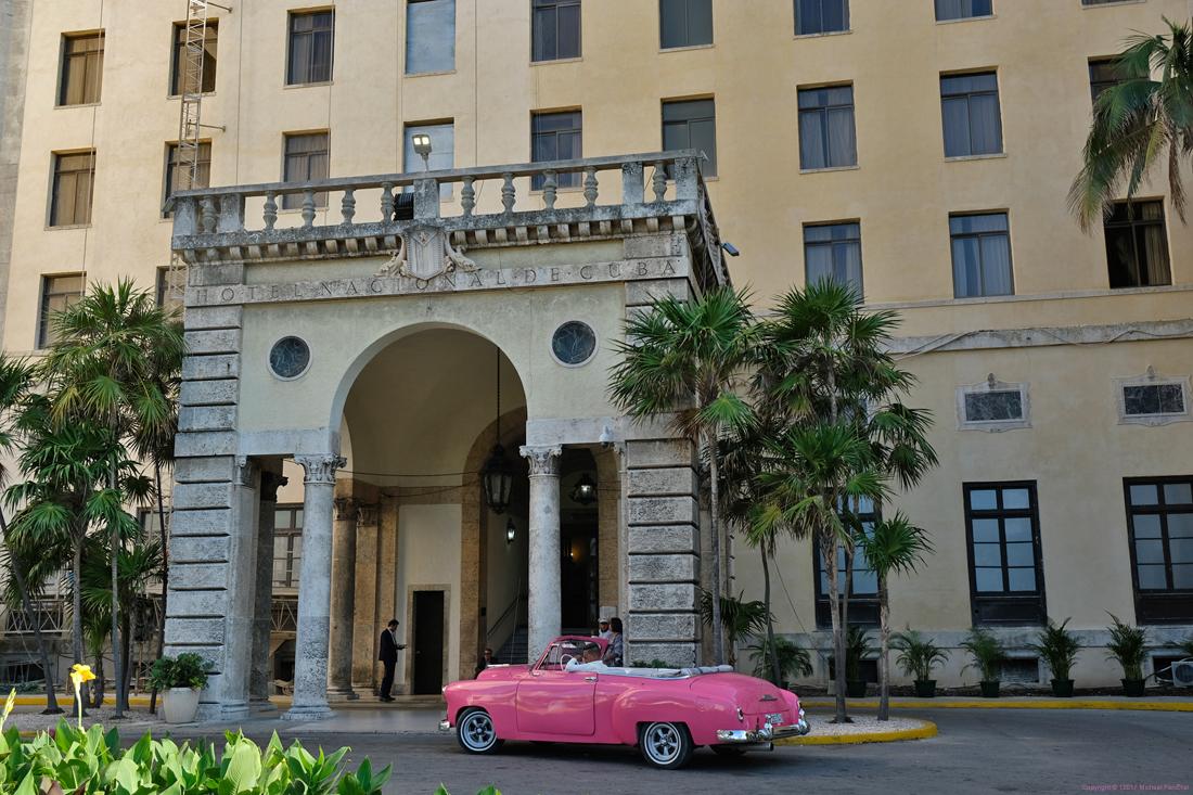 Pink Car at Hotel Nacional
