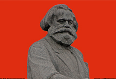 [Marx in RevolutionSquare At Night]
