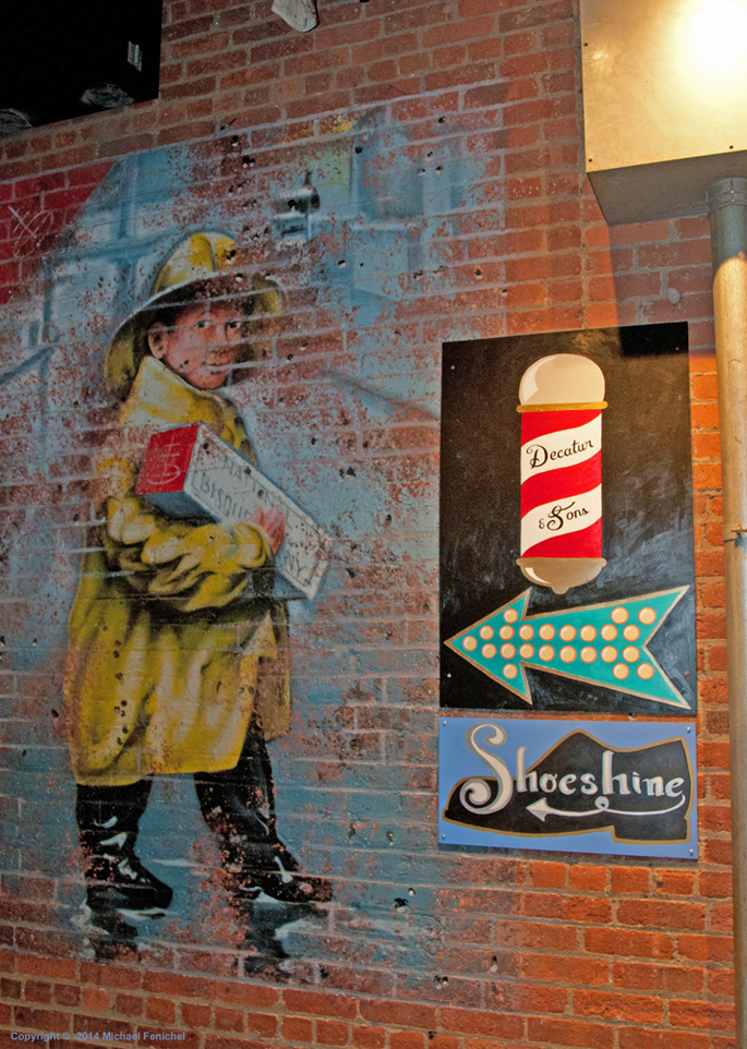 [Raingear and Shoeshine - Factory Wall]