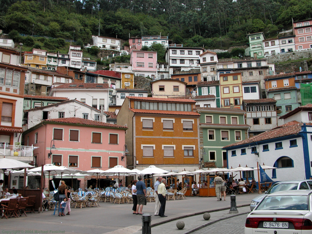 [Cudillero-Vertical Homes on the Cliffs. Click on image for another image from Cudillero or use the links below for other destinations in Asturias and across the continents.]